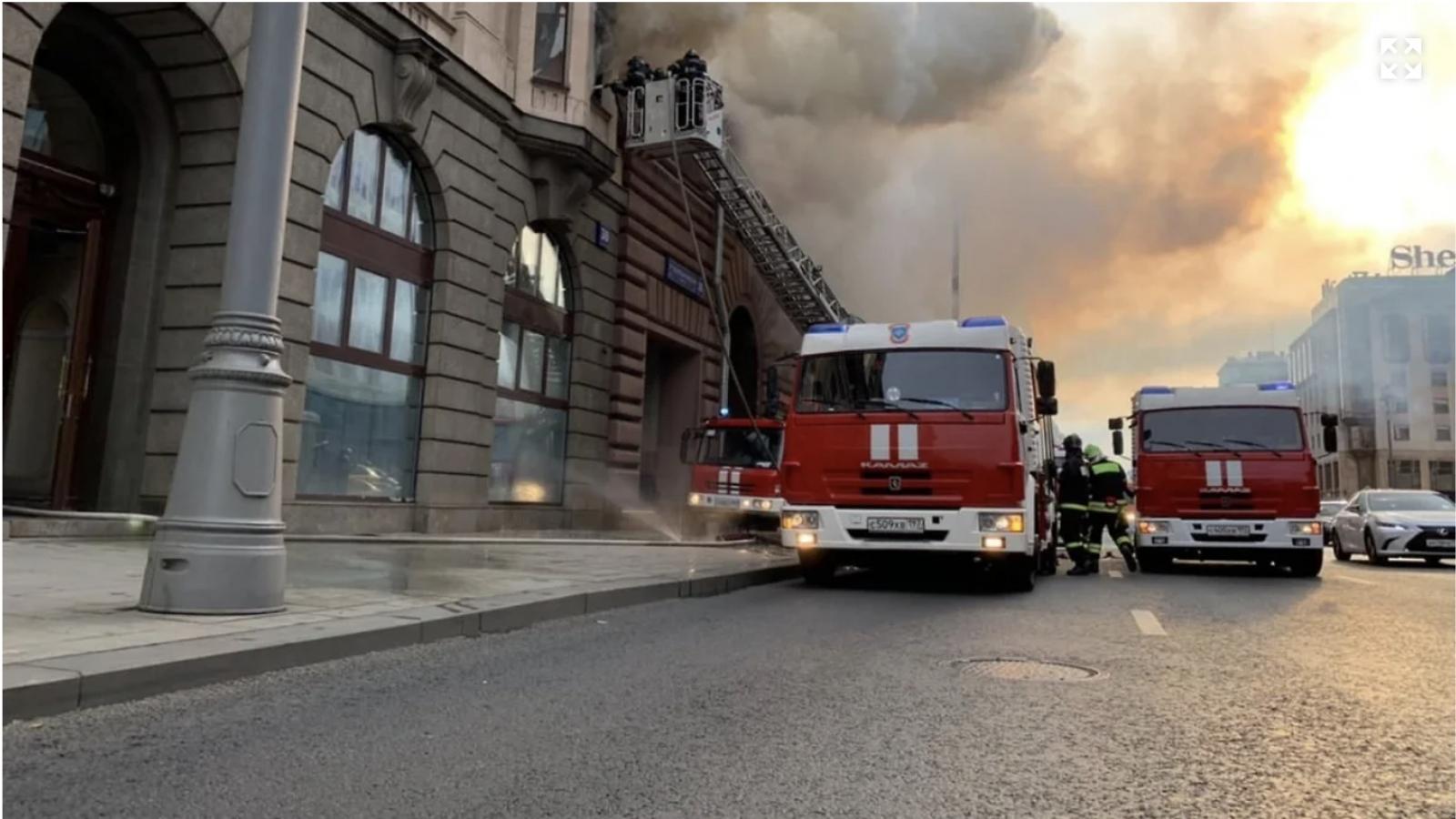 Cháy toà nhà nơi đặt văn phòng đại diện thương mại Việt Nam tại LB Nga