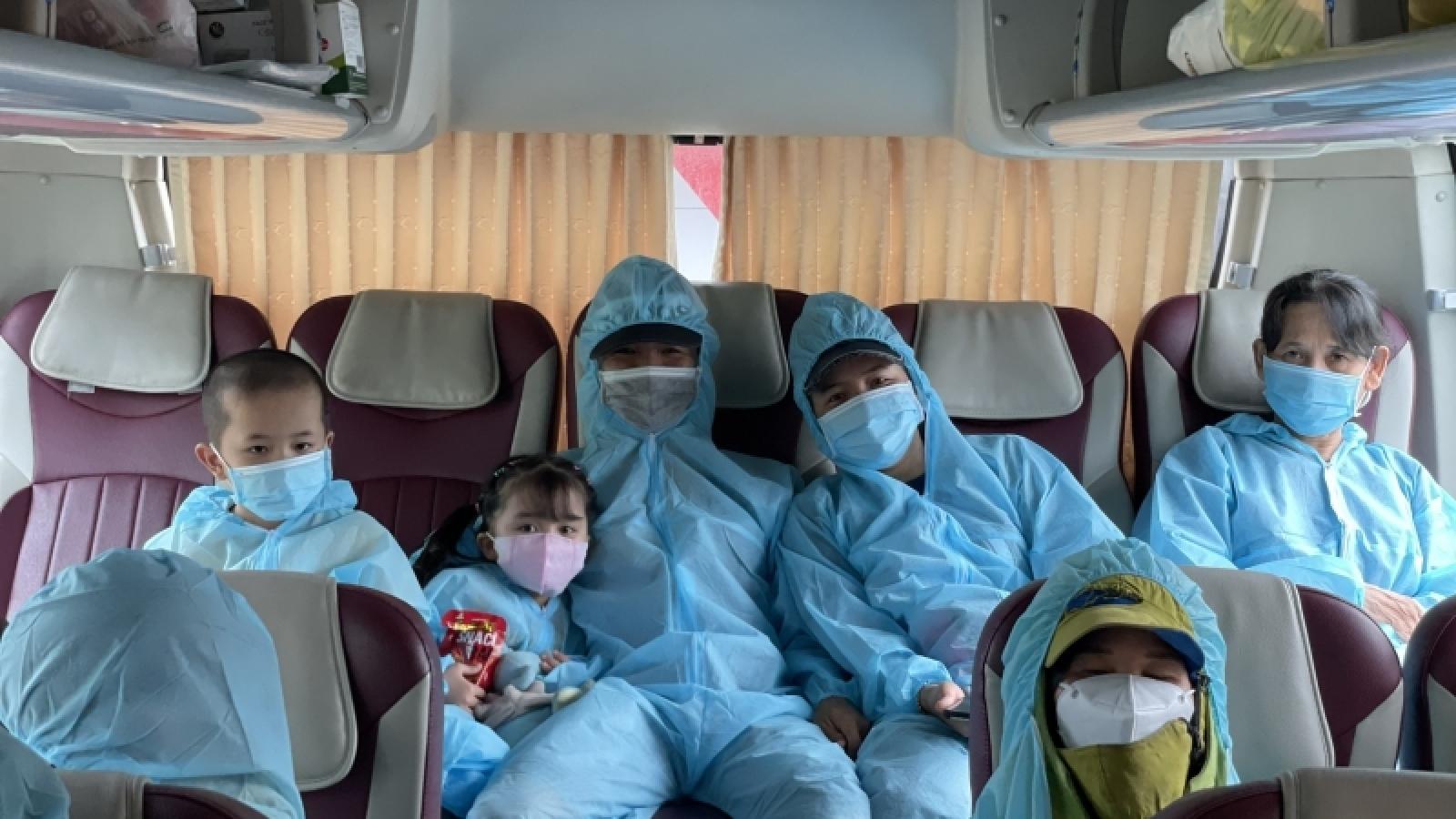 Quảng Nam tiếp tục đón người dân hoàn cảnh khó khăn tại các tỉnh phía Nam về quê