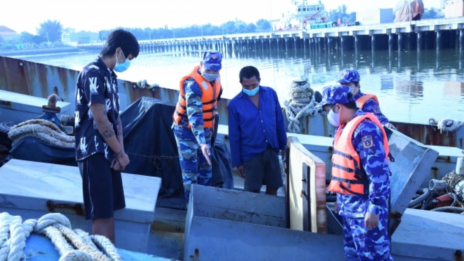 Vùng Cảnh sát biển 3 bắt giữ tàu chở 60.000 lít dầu DO không rõ nguồn gốc