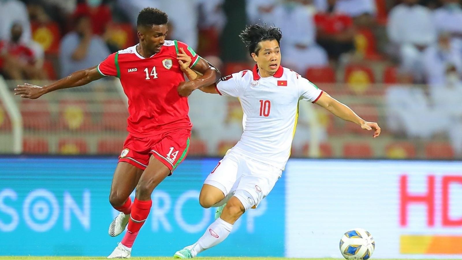 Thua ngược Oman, ĐT Việt Nam vẫn chưa có điểm ở vòng loại thứ ba World Cup 2022