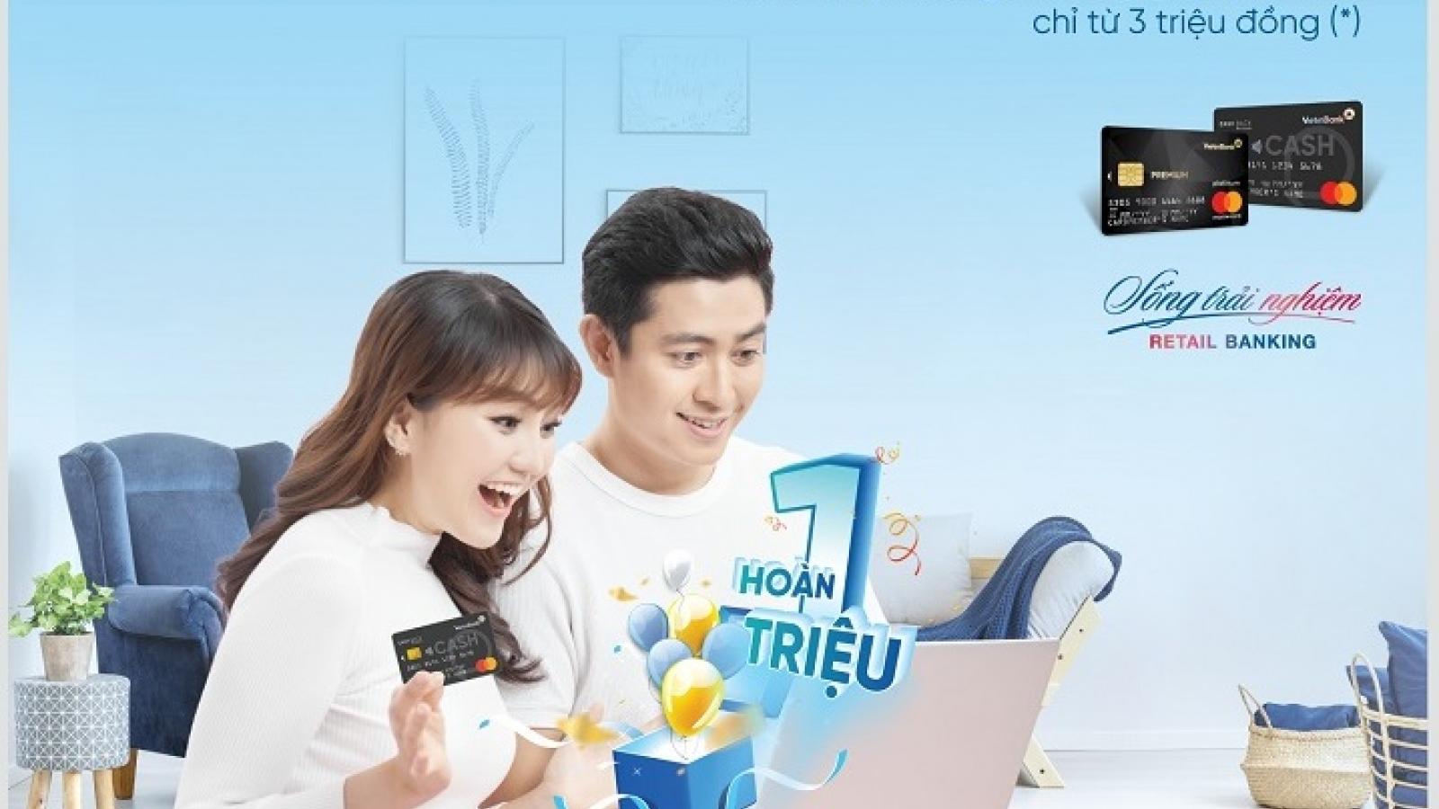 Hoàn tiền lên đến 1.000.000 đồng khi mở thẻ tín dụng quốc tế VietinBank MasterCard