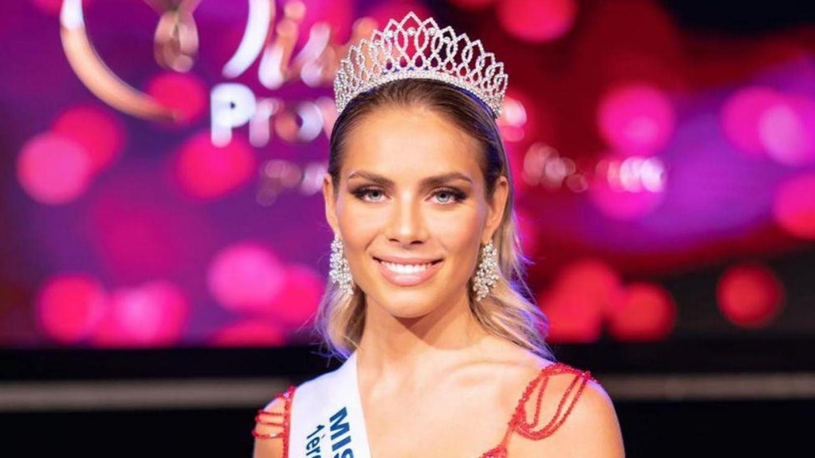 """Hoa hậu Thế giới Pháp 2021: Nhan sắc """"cực phẩm"""" và đôi mắt xanh hút hồn"""