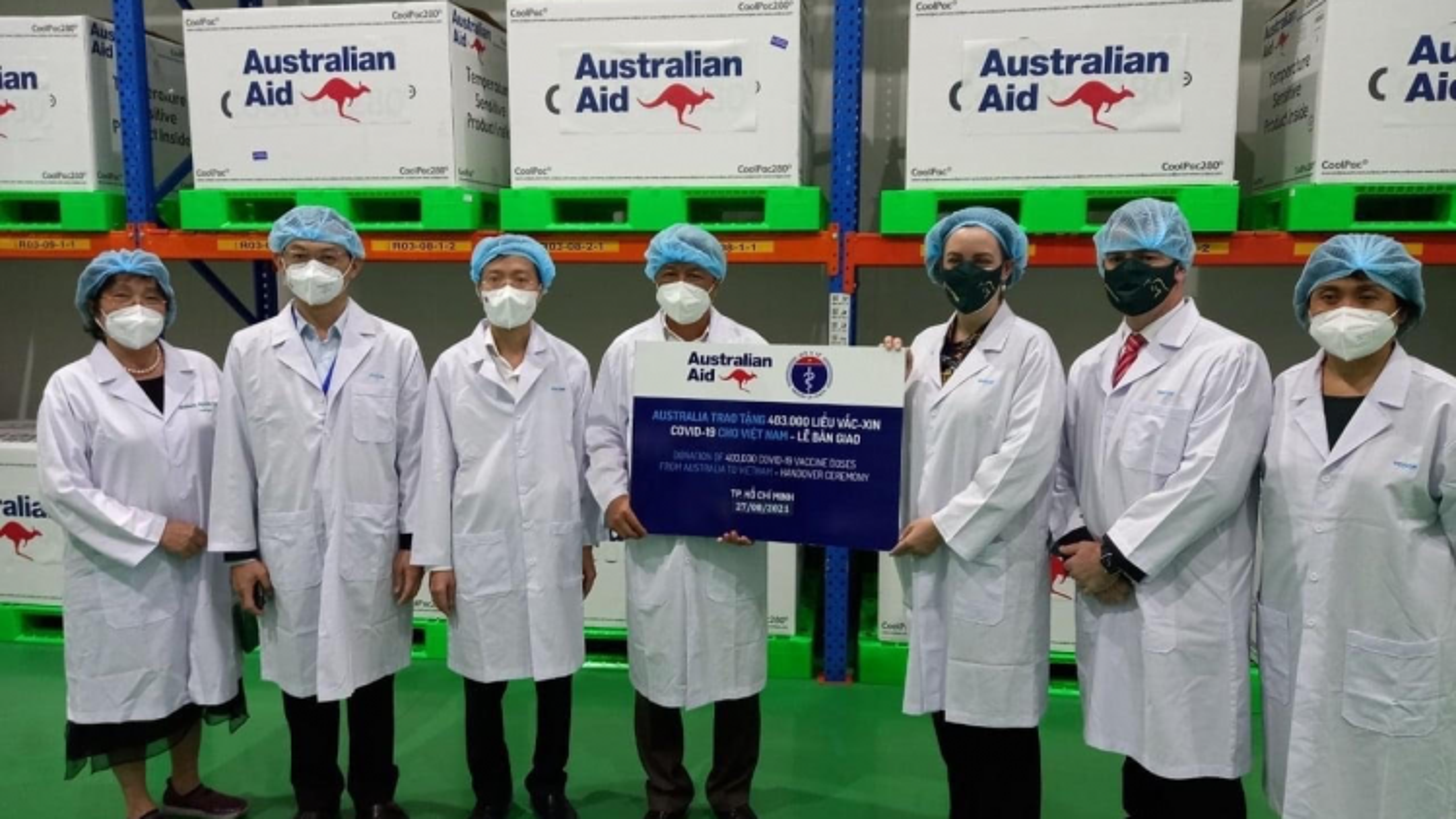 Australia tăng số vaccine Covid-19 hỗ trợ Việt Nam lên 5,2 triệu liều
