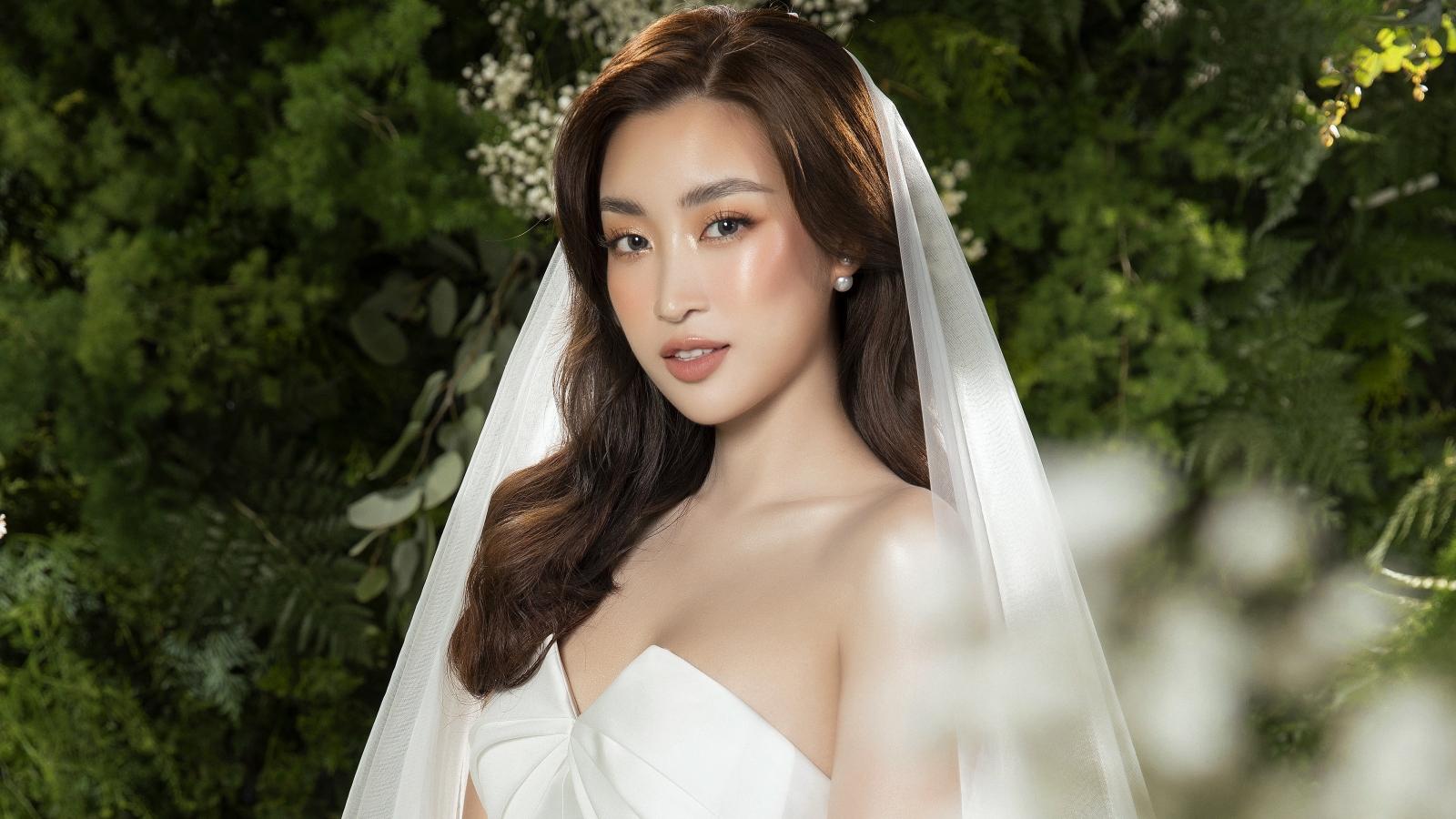 Hoa hậu Đỗ Mỹ Linh hoá cô dâu đẹp dịu dàng trong loạt ảnh mới