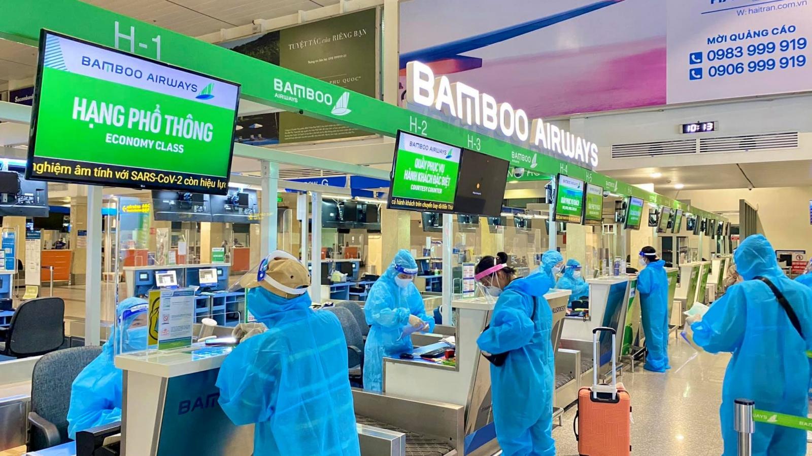 Bamboo Airways chở gần 700 công dân Bắc Ninh từ TP.HCM về quê