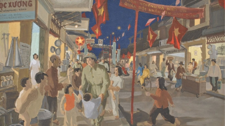 Online painting exhibition marks Hanoi Liberation Day