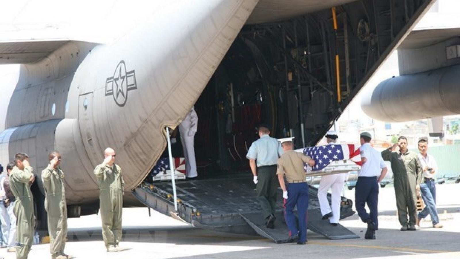 Remains of US servicemen repatriated