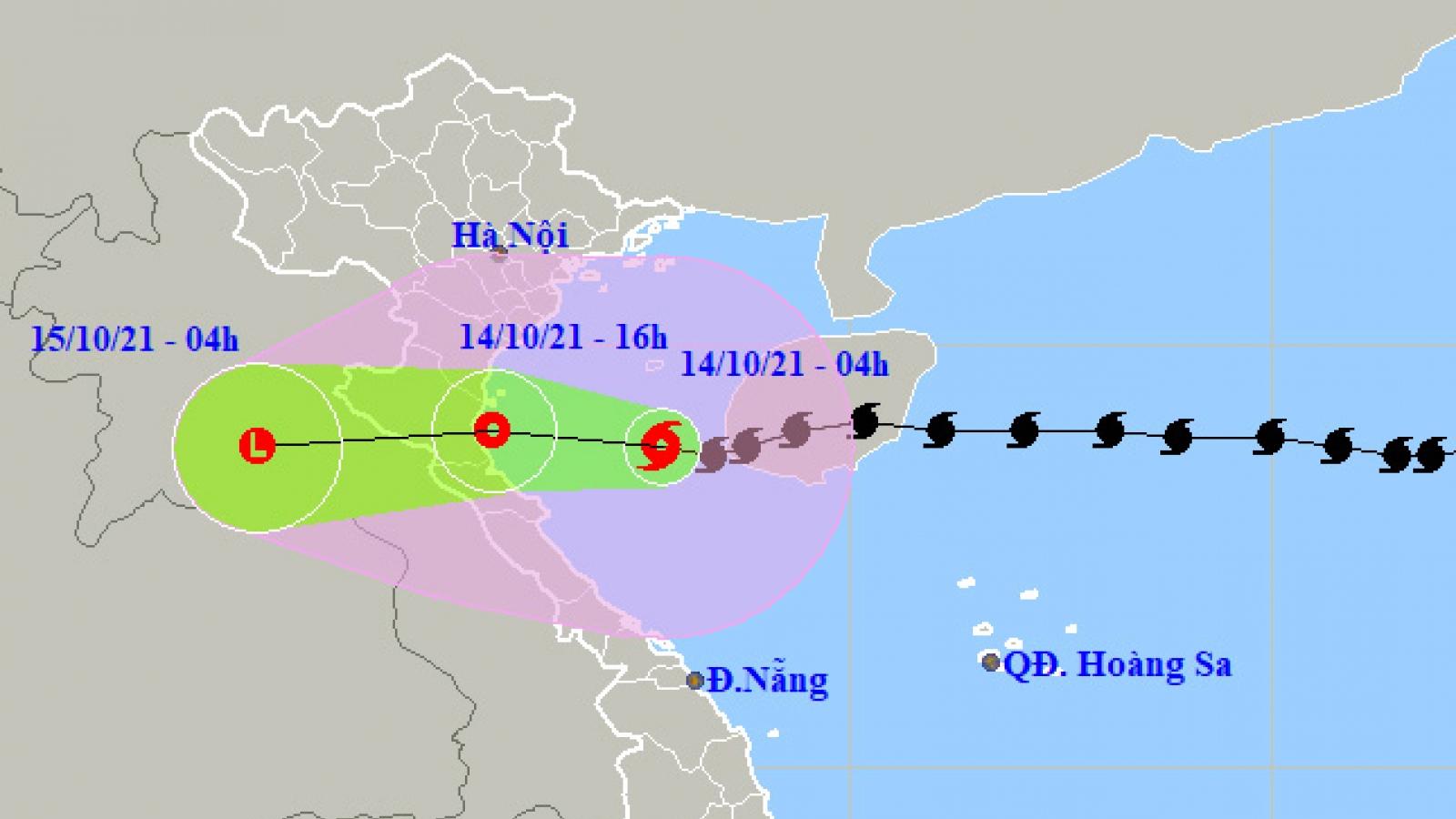 Áp thấp nhiệt đới giảm cấp, hiện đang trên vùng biển Nam Định -Thanh Hóa
