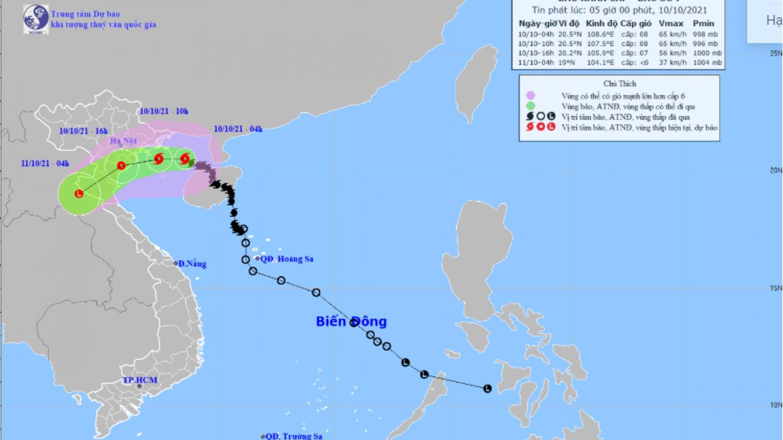 Bão số 7 cách Bạch Long Vĩ 100km gió giật cấp 10, Biển Đông sắp đón thêm bão Kompasu