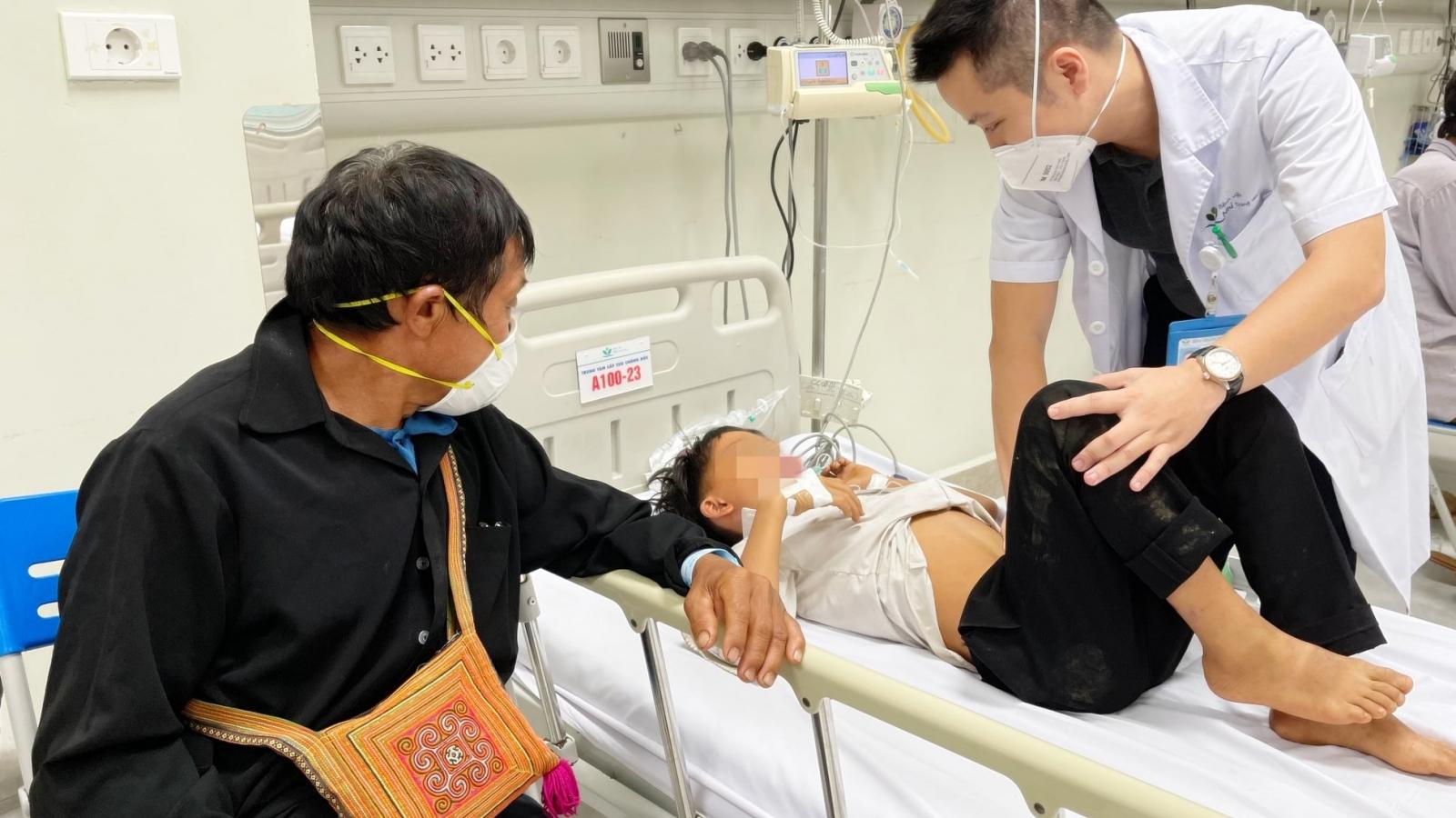 Tám trẻ bị ngộ độc nặng khi ăn quả hồng châu phải chuyển xuống BV Nhi Trung ương