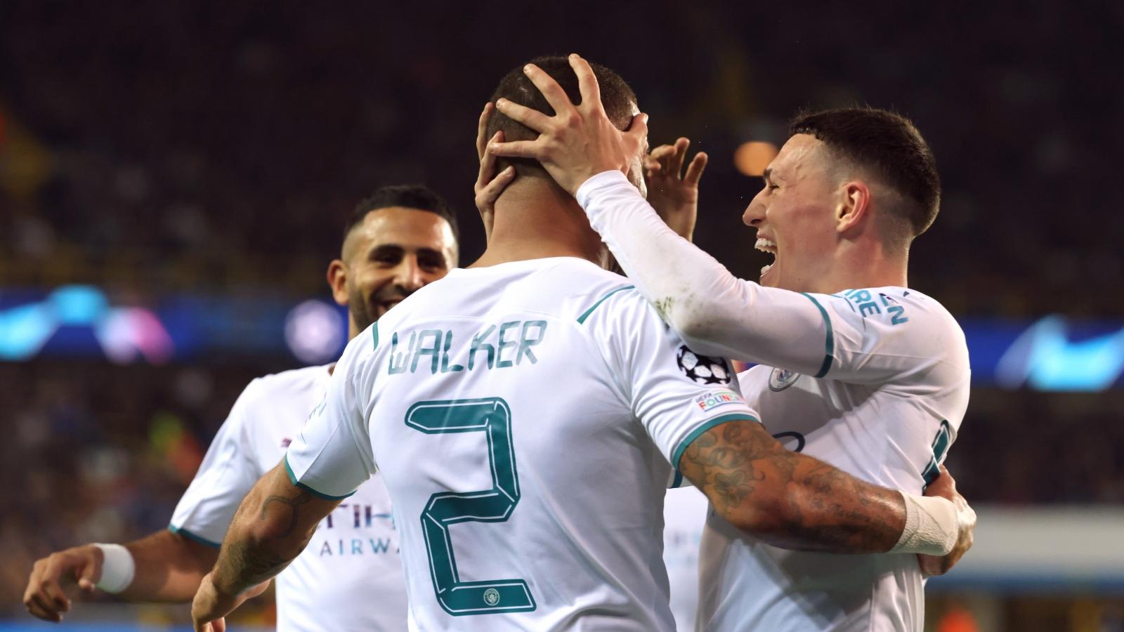 Thắng đậm Brugge, Man City cạnh tranh quyết liệt với PSG ở Champions League