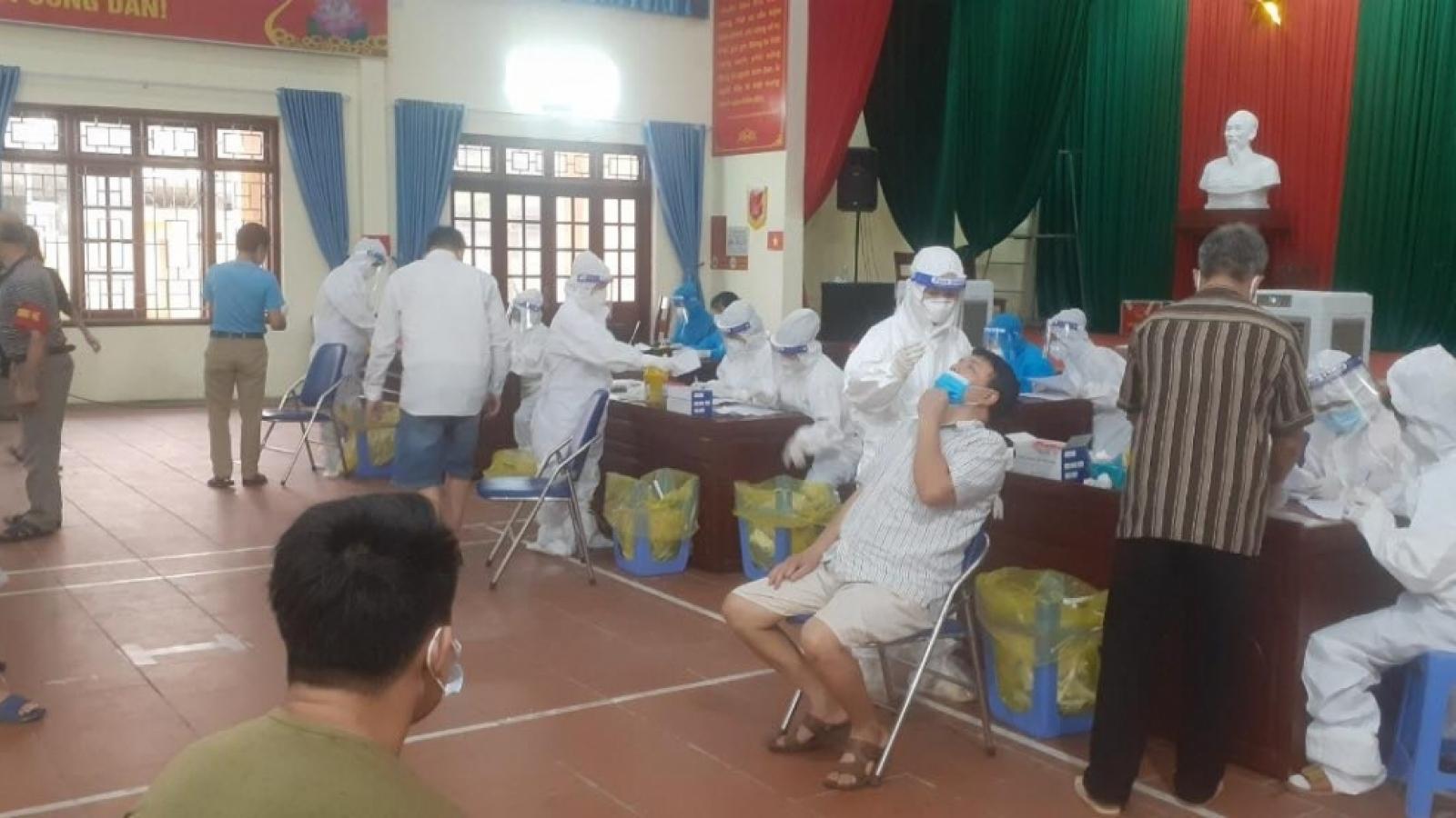 Bắc Ninh ghi nhận chùm 11 ca bệnh COVID-19 mới ở thị trấn Phố Mới