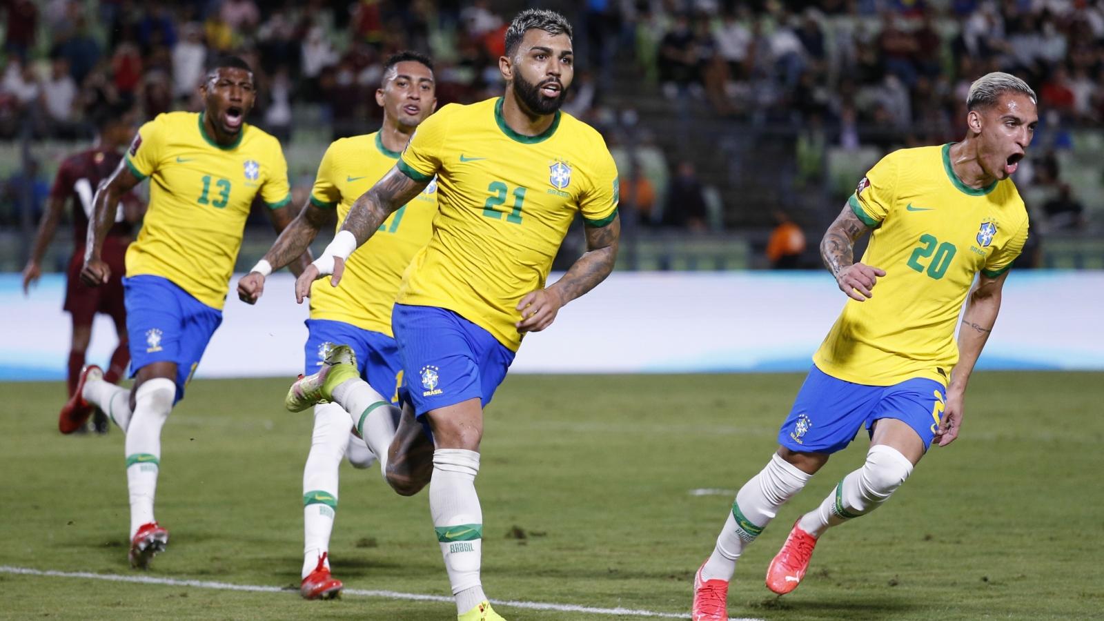 Không Neymar, Brazil ngược dòng hạ Venezuela tại vòng loại World Cup 2022