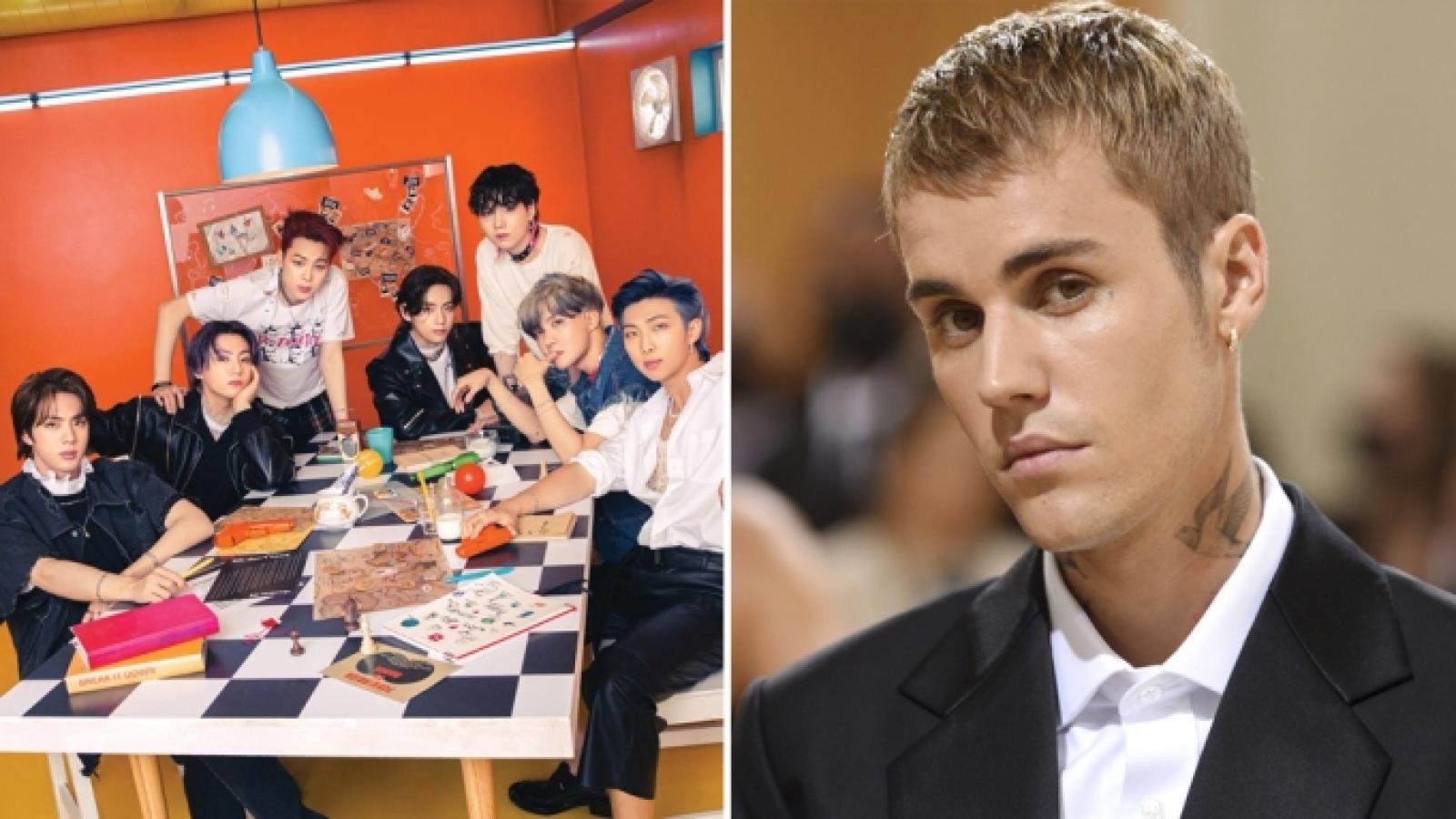 Justin Bieber dẫn đầu loạt đề cử, BTS đối đầu BLACKPINK tại giải thưởng MTV EMAs