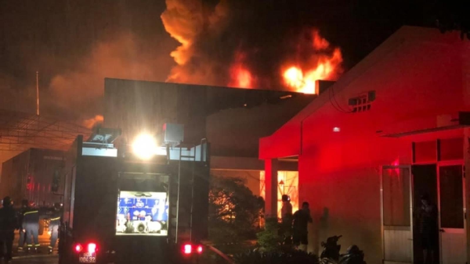 Điều tra nguyên nhân vụ hỏa hoạn xảy ra tại công ty may ở Đồng Nai