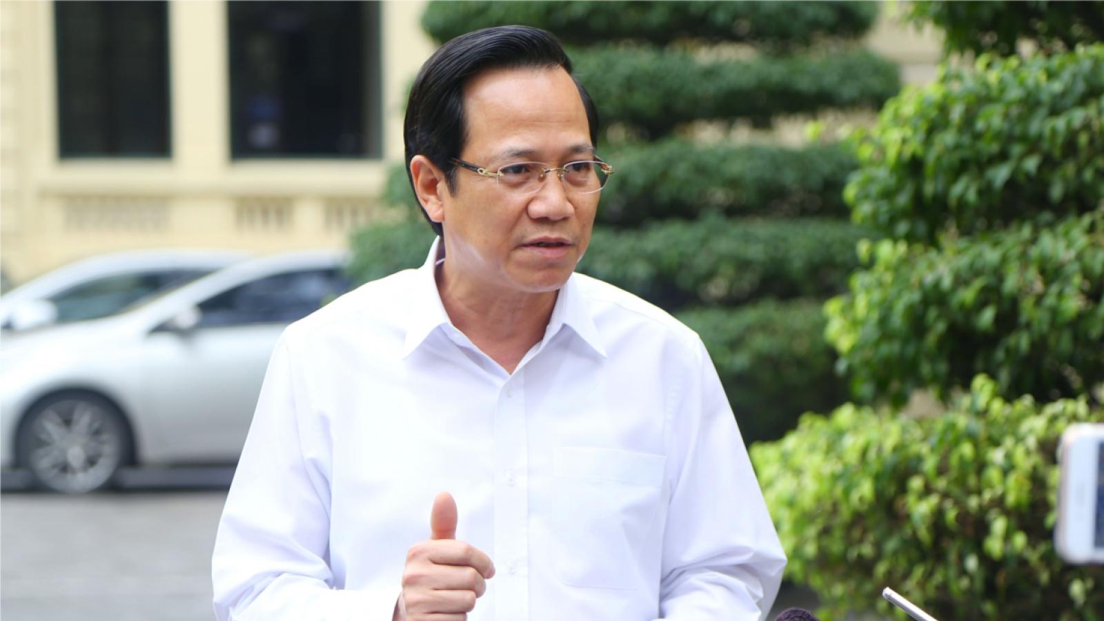 Bộ trưởng Đào Ngọc Dung: Đôn đốc việc hỗ trợ, đánh giá thực chất tình hình lao động