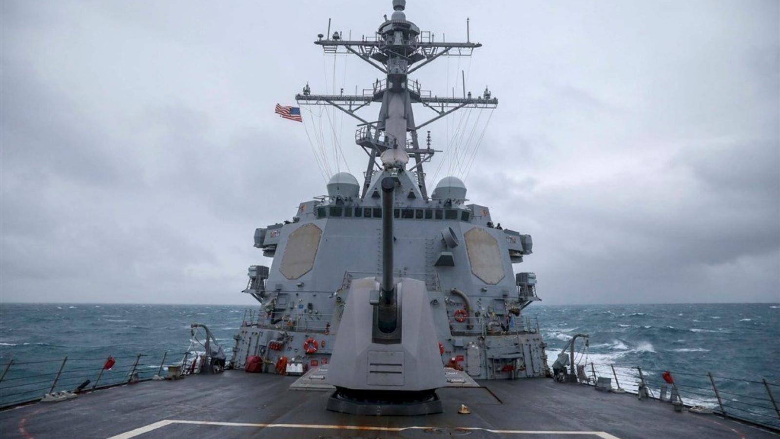 Tàu chiến Mỹ - Canada quá cảnh qua eo biển Đài Loan (Trung Quốc)