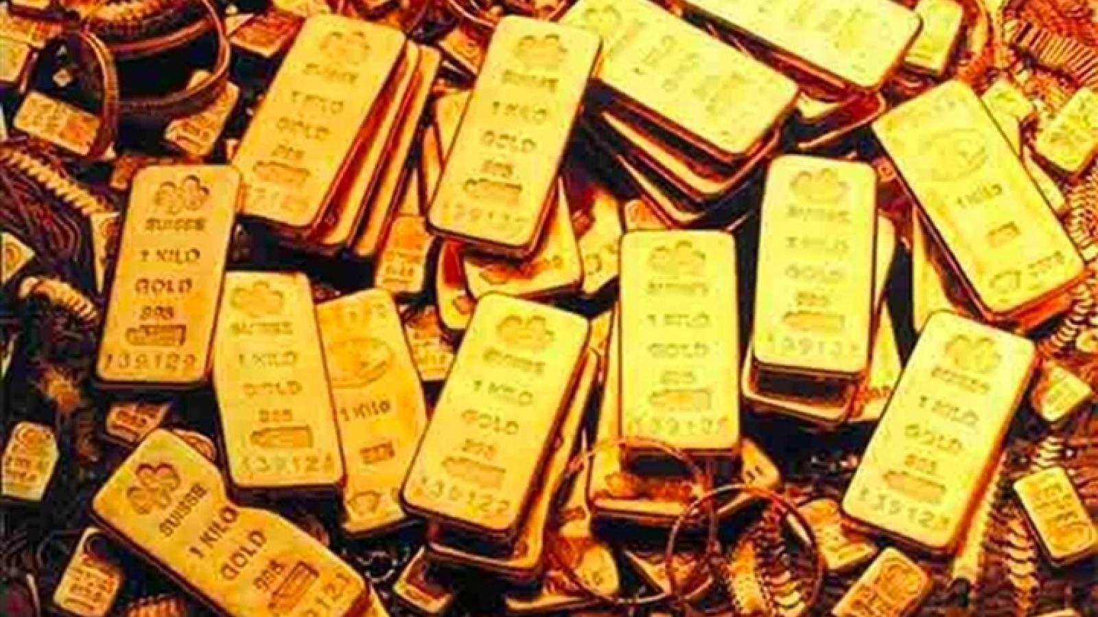 Giá vàng trong nước đứng yên, vàng thế giới tăng nhẹ