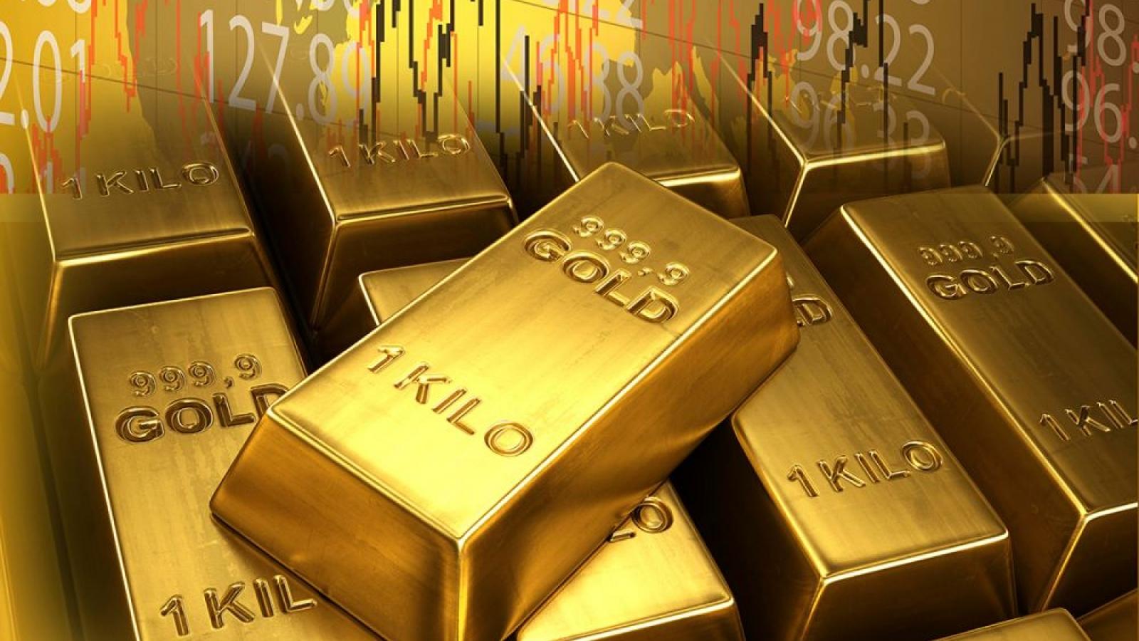 Giá bán vàng SJC cao hơn vàng thế giới trên 9 triệu đồng/lượng