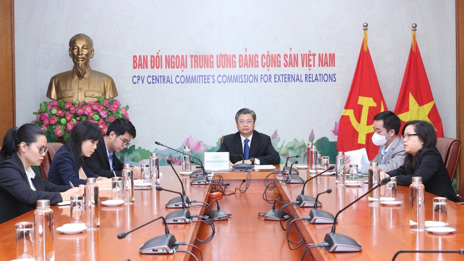 Tọa đàm trực tuyến giữa Việt Nam và Trung Quốc về phòng, chống dịch COVID-19
