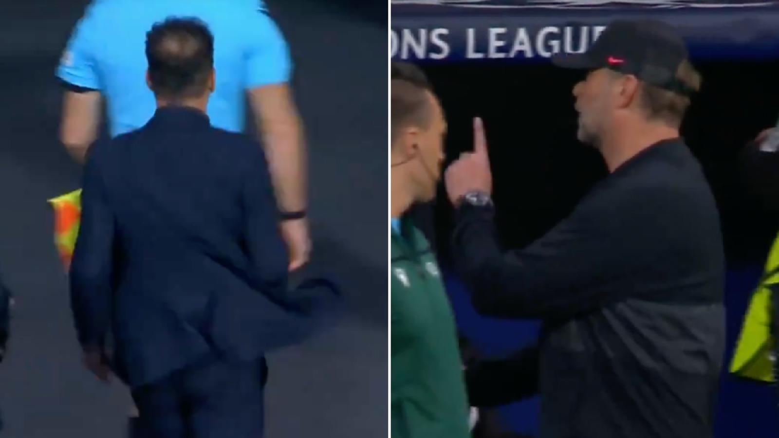Simeone không bắt tay Klopp sau khi Atletico Madrid thua đau Liverpool