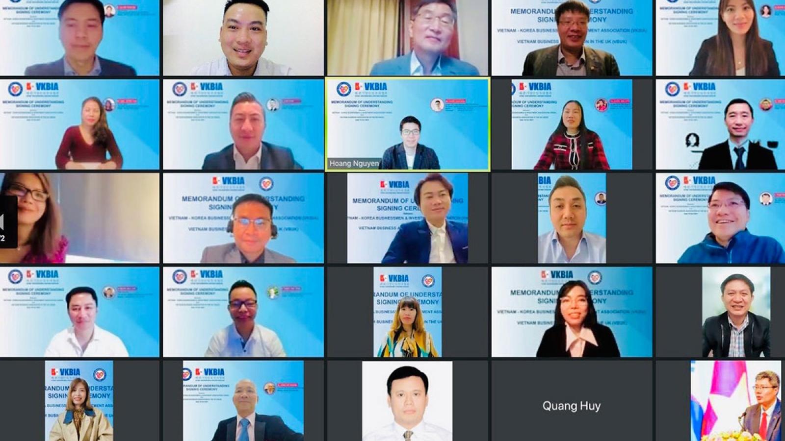 Doanh nhân Việt tại Hàn Quốc và Anh hỗ trợ tiêu thụ hàng Việt Nam ra nước ngoài