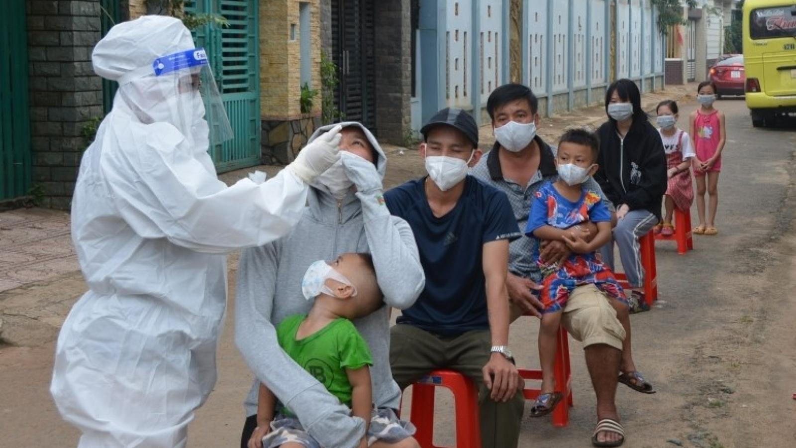 Đắk Lắk ghi nhận thêm 167 trường hợp nhiễm virus SARS-CoV-2