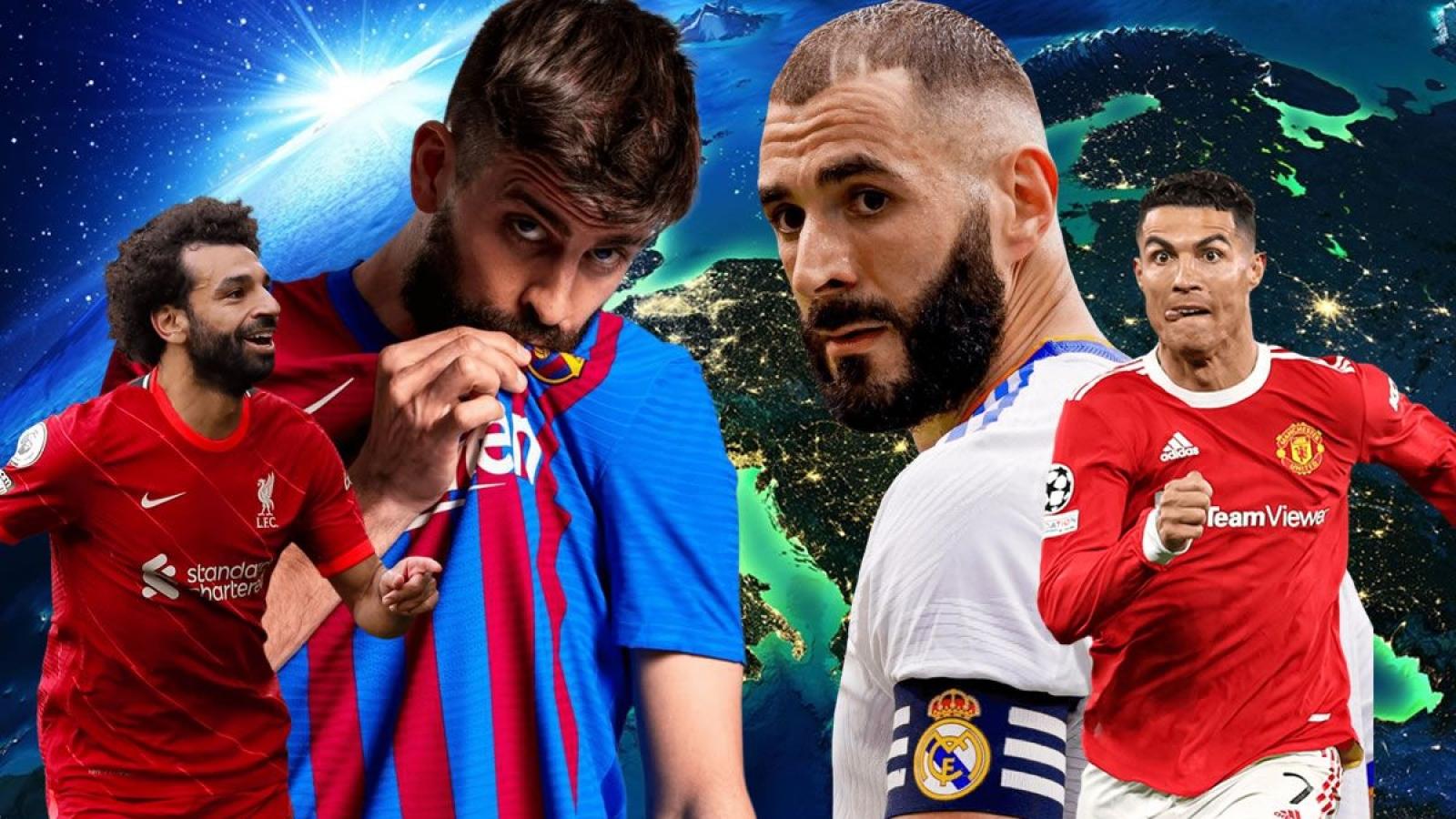 Lịch bóng đá hôm nay (24/10): MU đại chiến Liverpool, Barca đấu Real Madrid