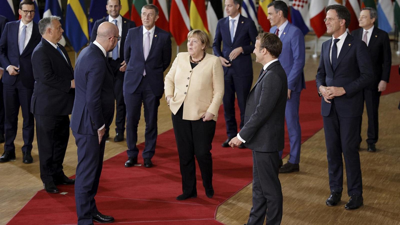 Hội nghị thượng đỉnh EU lần thứ 107 của Thủ tướng Đức Angela Merkel