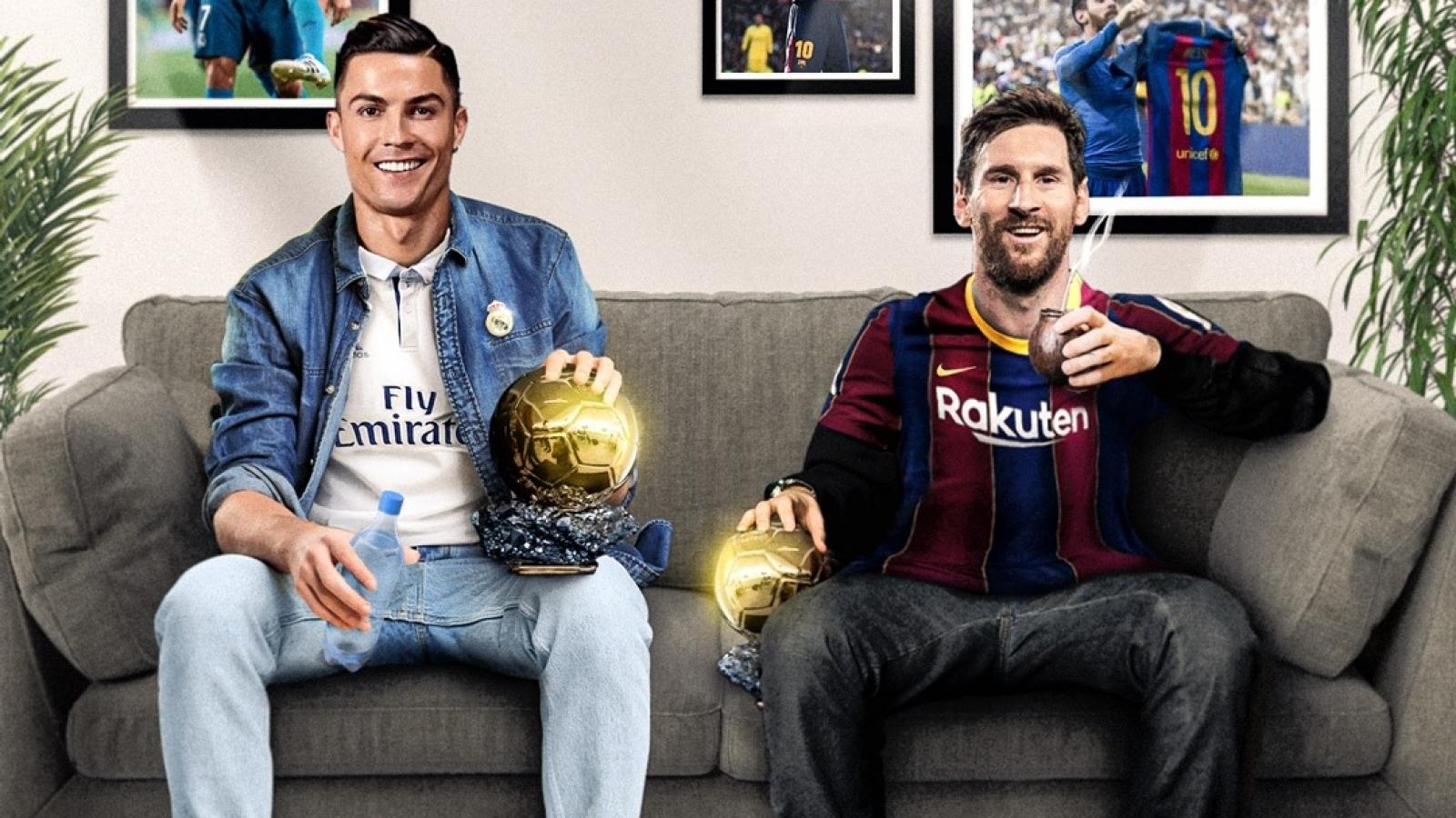 Biếm hoạ 24h: Messi rủ Ronaldo xem El Clasico qua màn ảnh nhỏ