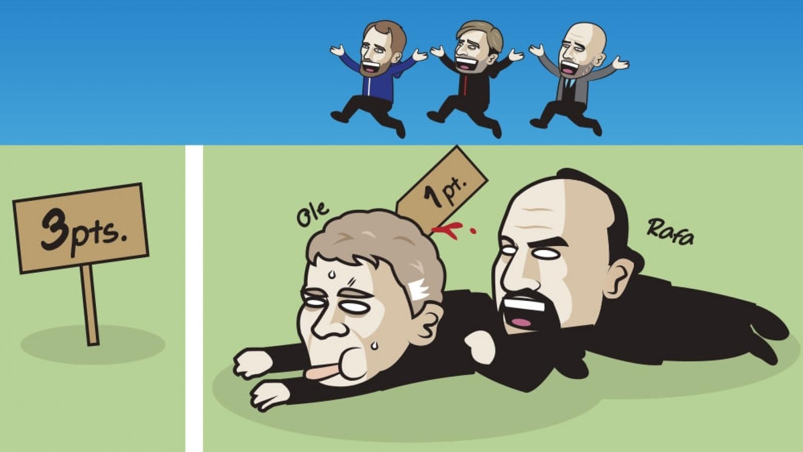 Biếm hoạ 24h: MU bị Everton cầm chân, HLV Solskjaer lâm nguy