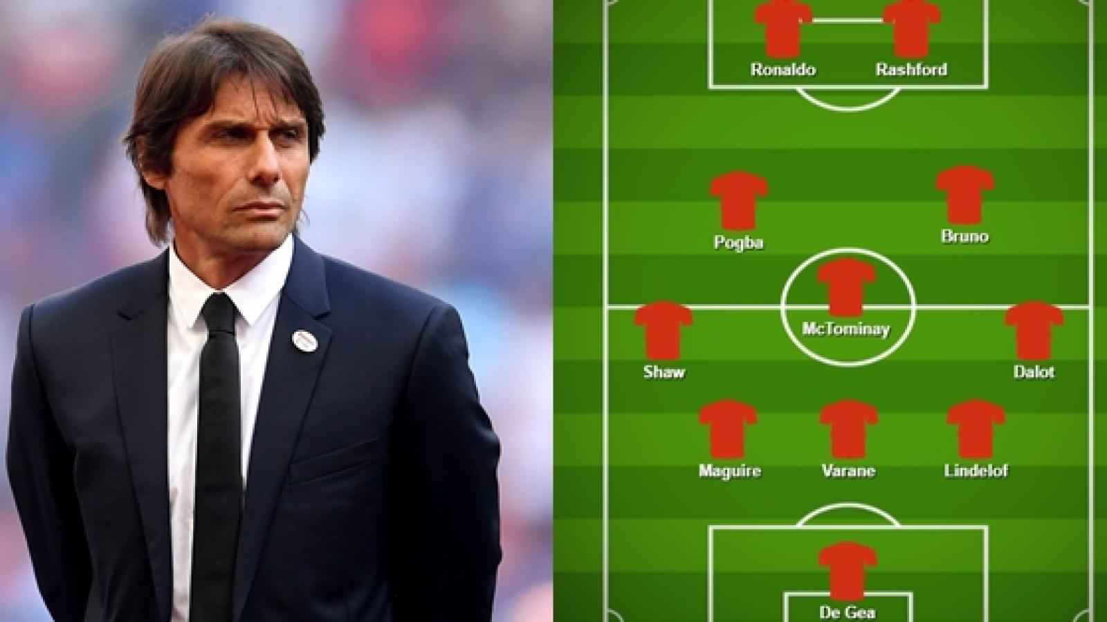 Dự đoán đội hình tối ưu của MU nếu Antonio Conte thay thế Solskjaer