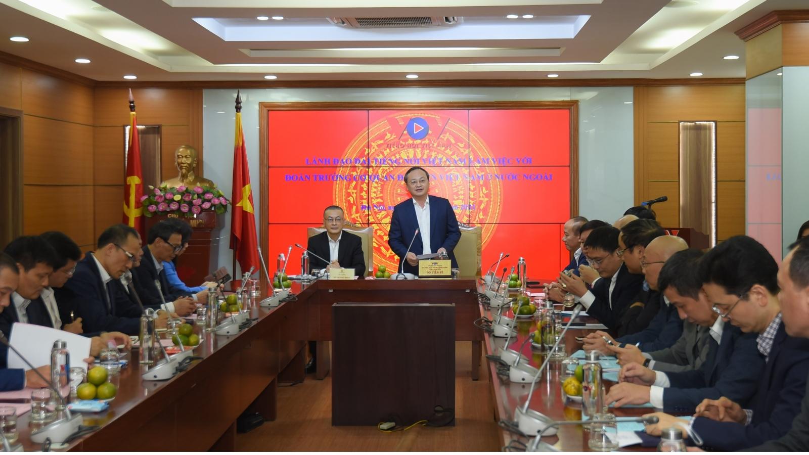 Tổng Giám đốc VOV tiếp Đoàn Trưởng Cơ quan đại diện Việt Nam ở nước ngoài
