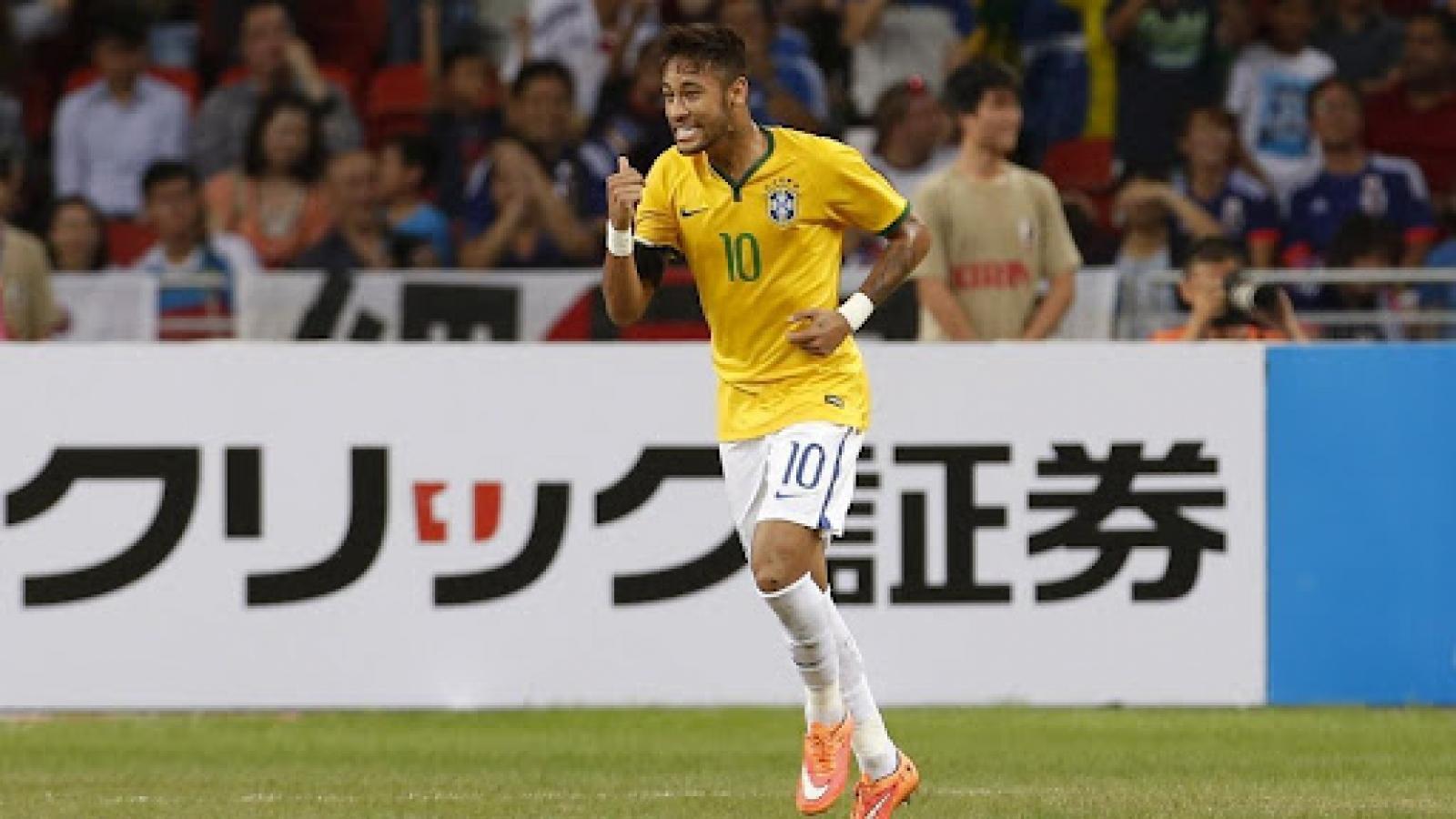 """Ngày này năm xưa: Neymar lần đầu lập """"poker"""" cho ĐT Brazil"""