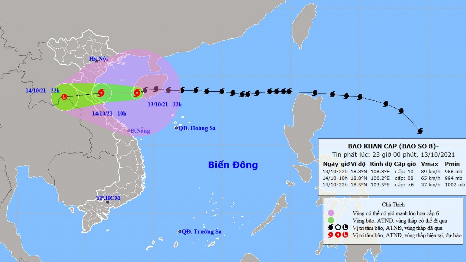 Ảnh hưởng của bão số 8, đảo Bạch Long Vĩ đã có gió mạnh cấp 9, giật cấp 11