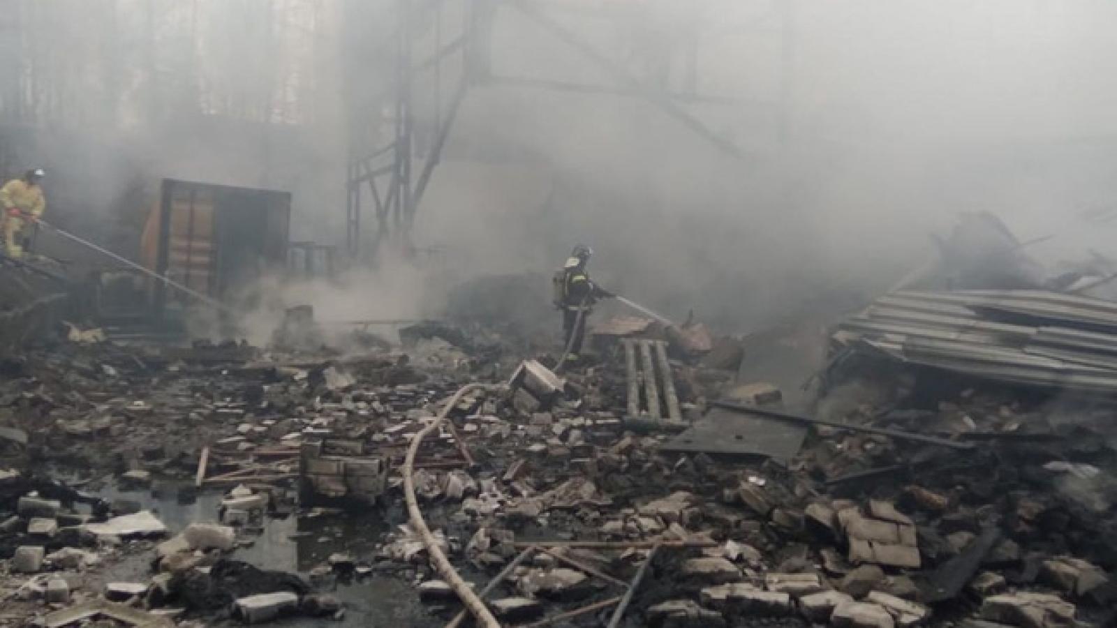 Nổ nhà máy hóa chất ở Nga khiến 16 người thiệt mạng