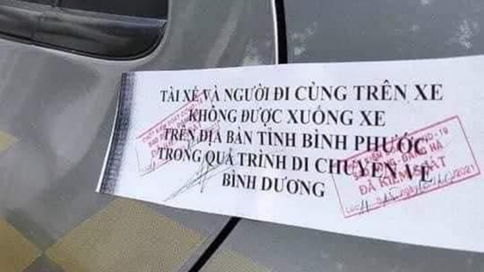 Bình Phước chấn chỉnh, không để xảy ra việc dán niêm phong ở cửa xe ô tô