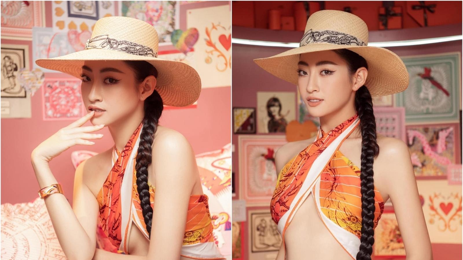 Chuyện showbiz: Hoa hậu Lương Thuỳ Linh khoe vòng eo quyến rũ, nóng bỏng
