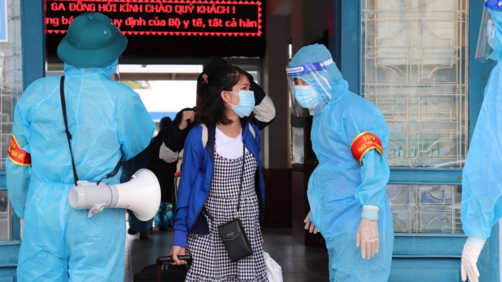 4 chuyến tàu chuyên biệt đưa công dân về Quảng Bình