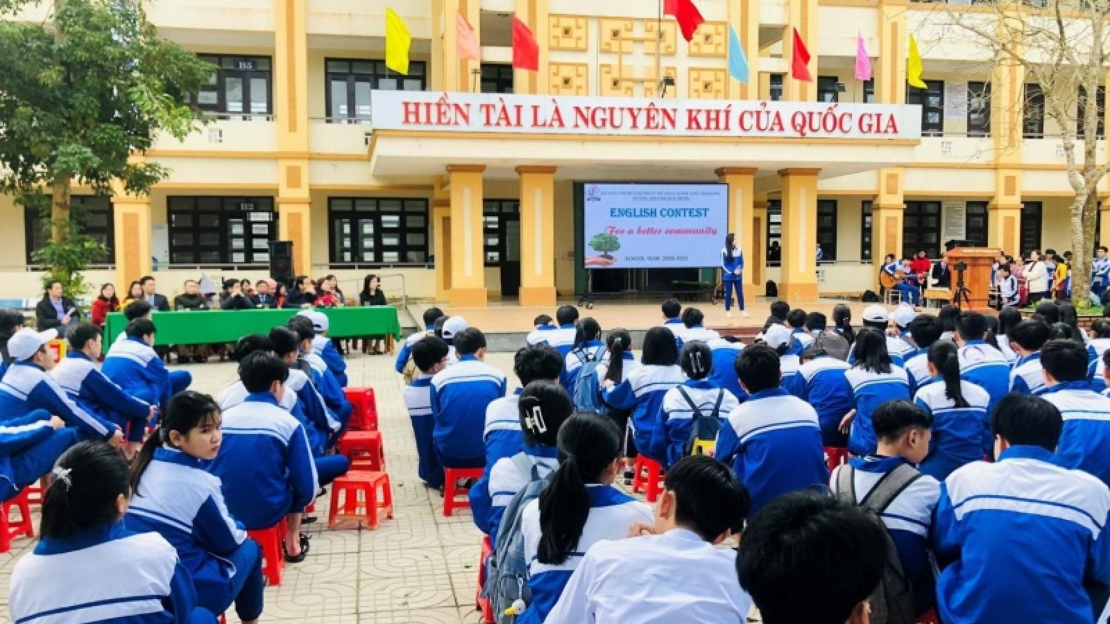 Học sinh ở TP Đông Hà (Quảng Trị) được đến trường học trực tiếp