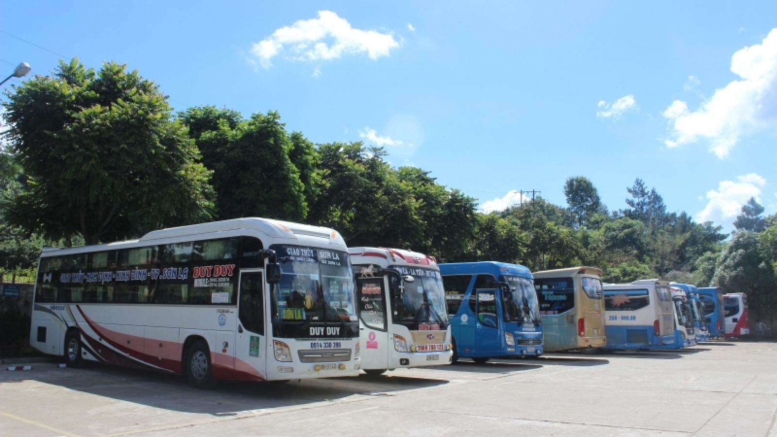 Sơn La thí điểm cho phép hoạt động trở lại một số tuyến vận tải hành khách cố định
