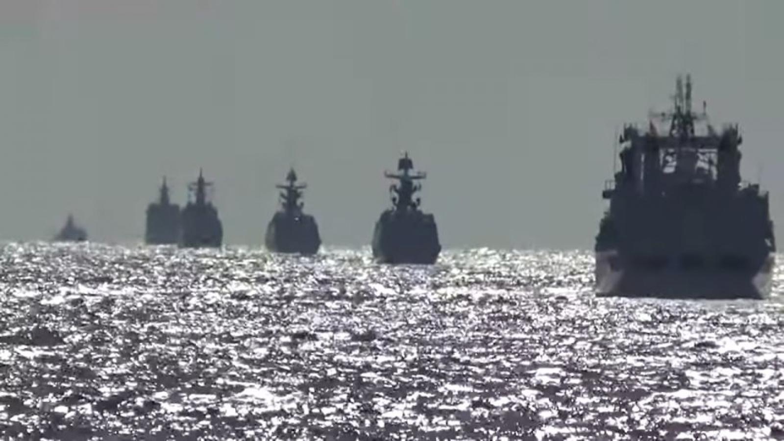 Tàu chiến Nga – Trung lần đầu tuần tra chung ở phía tây Thái Bình Dương