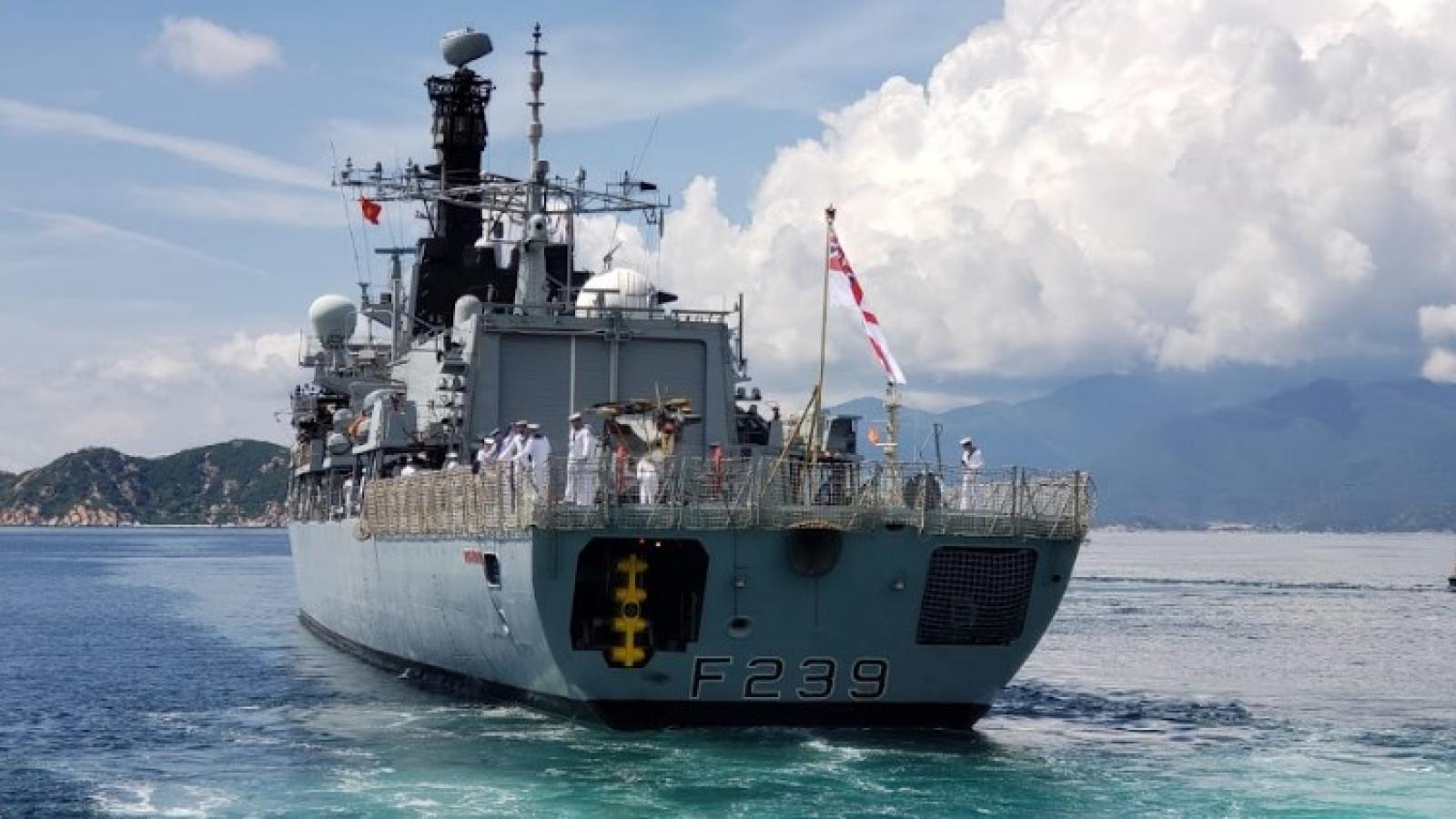 Royal Navy ship HMS Richmond visits Vietnam
