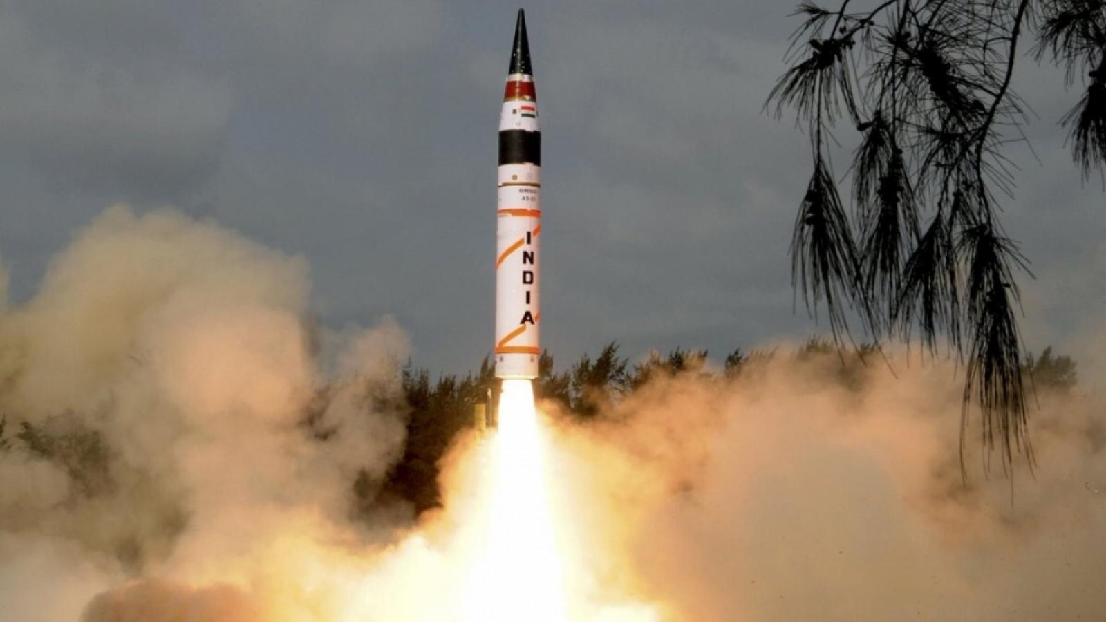 Ấn Độ thử tên lửa đạn đạo Agni-5 giữa lúc căng thẳng với Trung Quốc