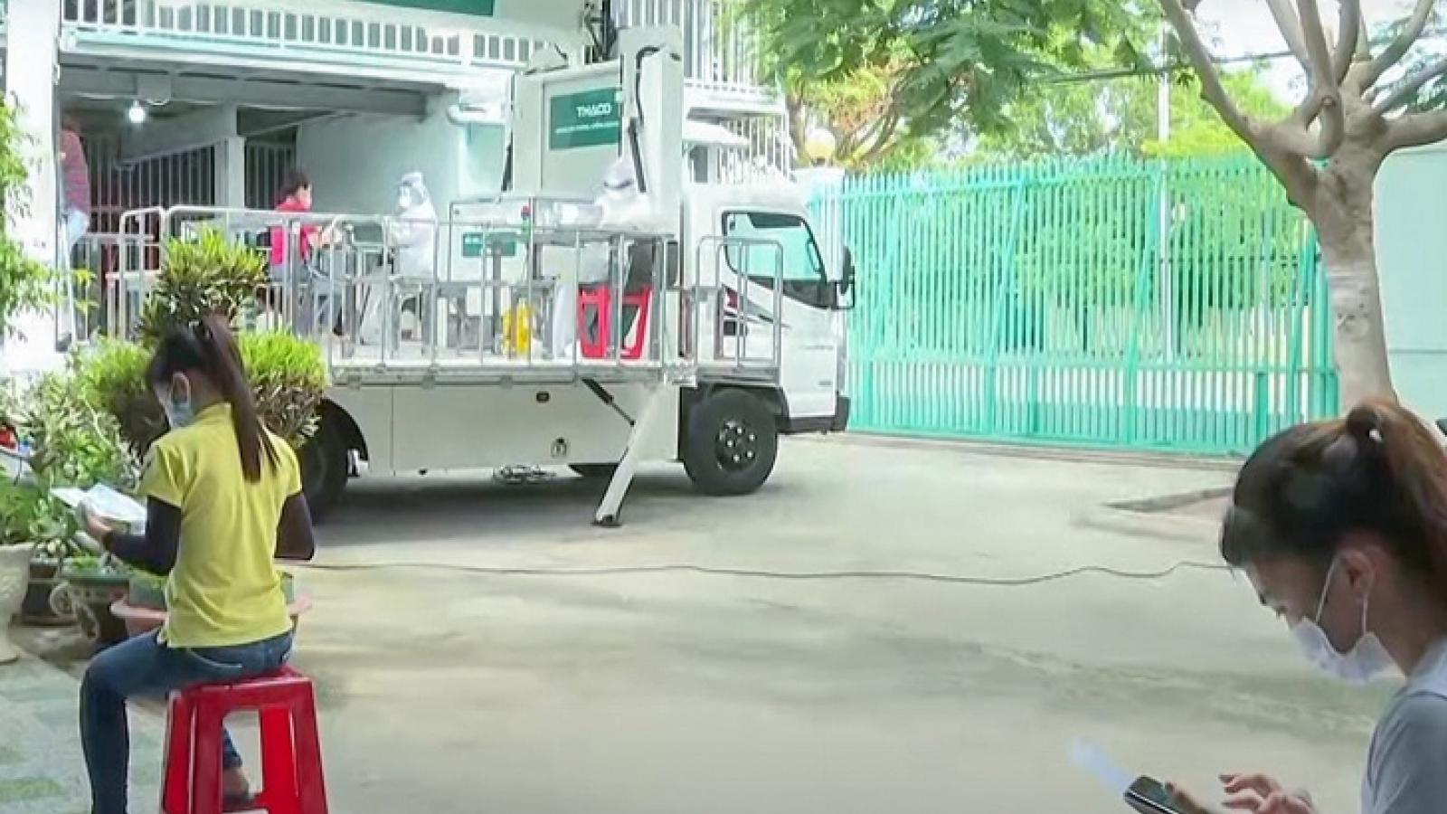 Ninh Thuận tổ chức xe lưu động tiêm vaccine Covid-19