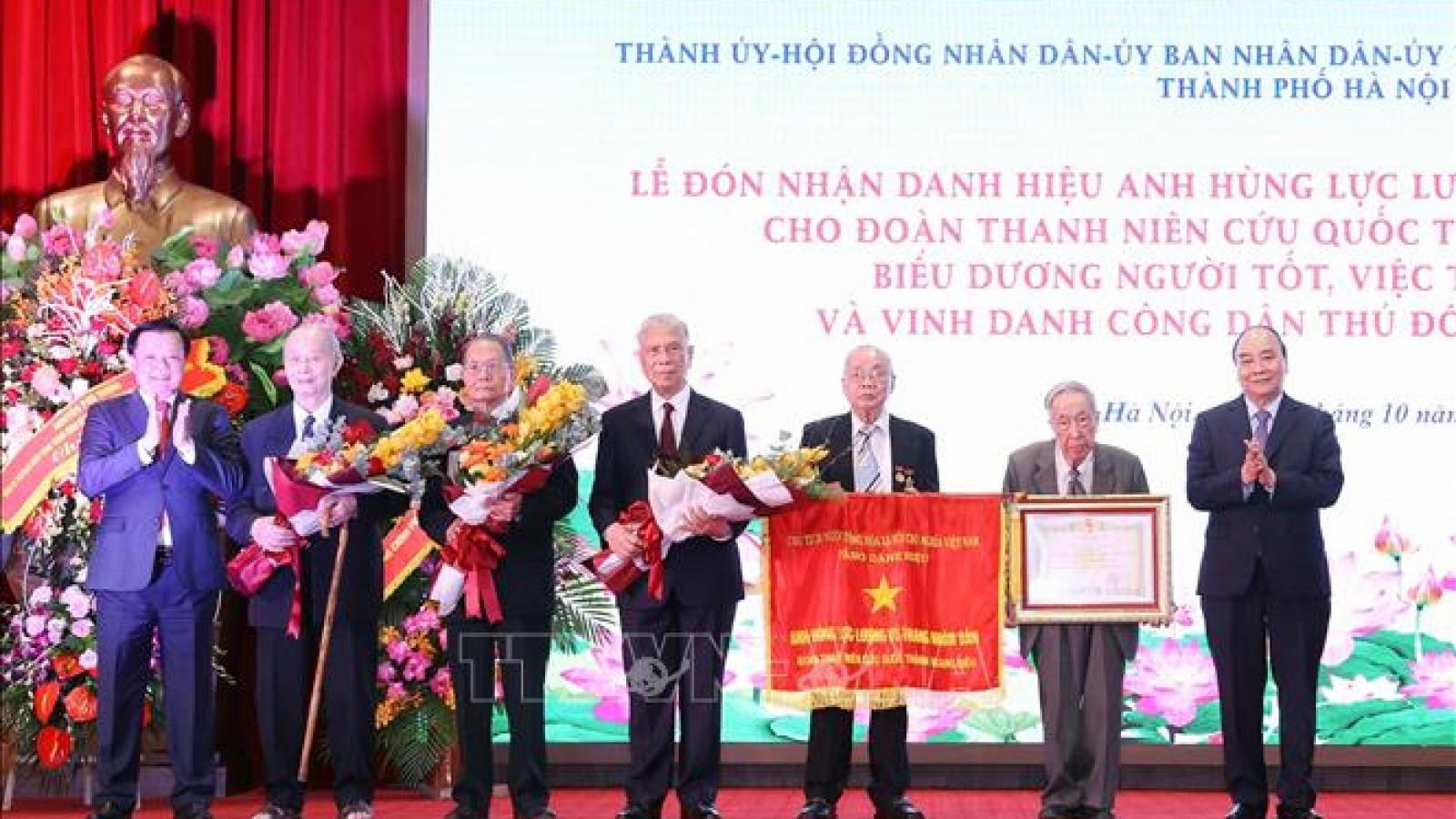 Đoàn Thanh niên cứu quốc thành Hoàng Diệu đón nhận danh hiệu Anh hùng