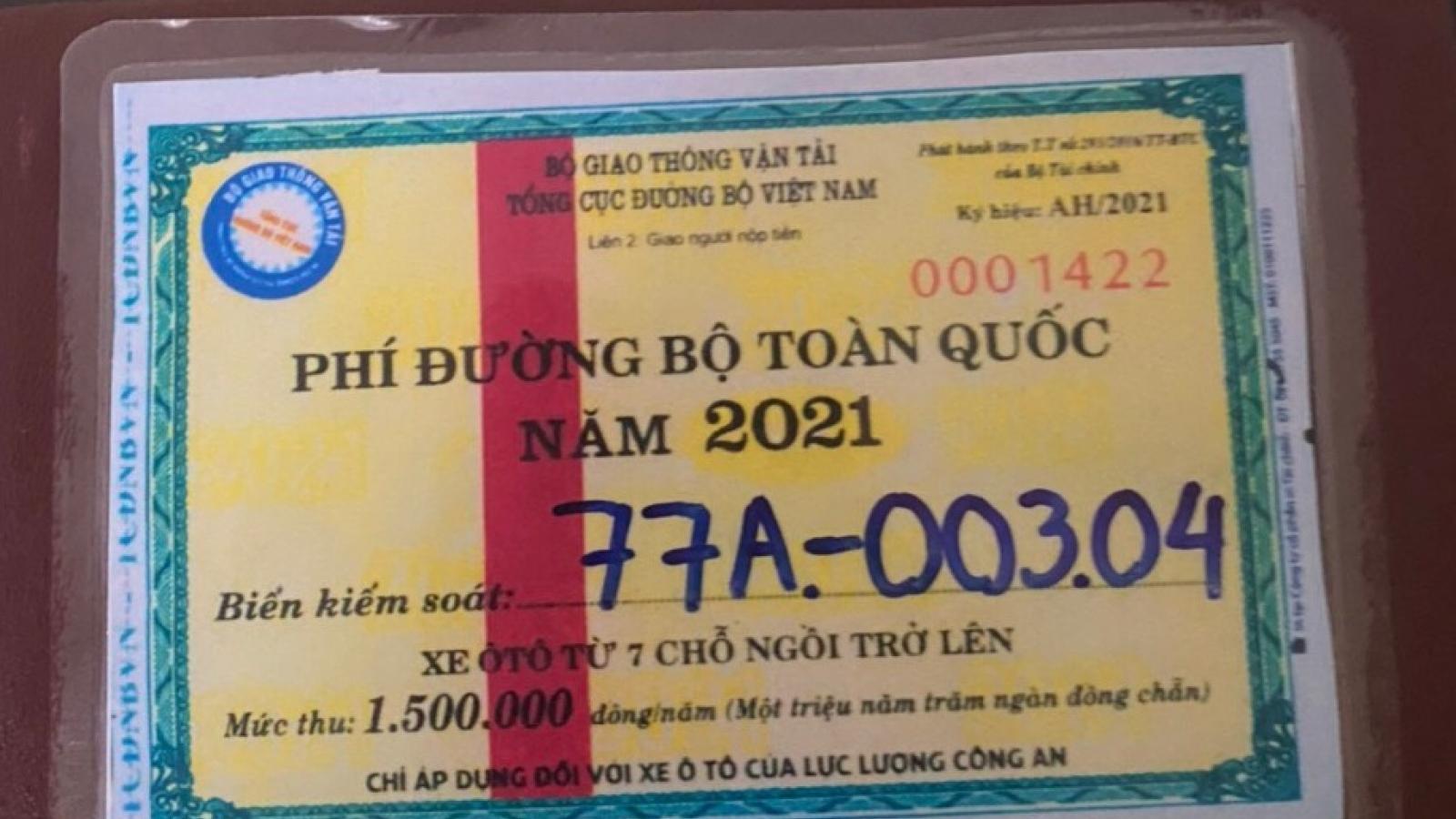 Khởi tố 3 lái xe Cục Quản lý thị trường Bình Định sử dụng vé thu phí đường bộ giả