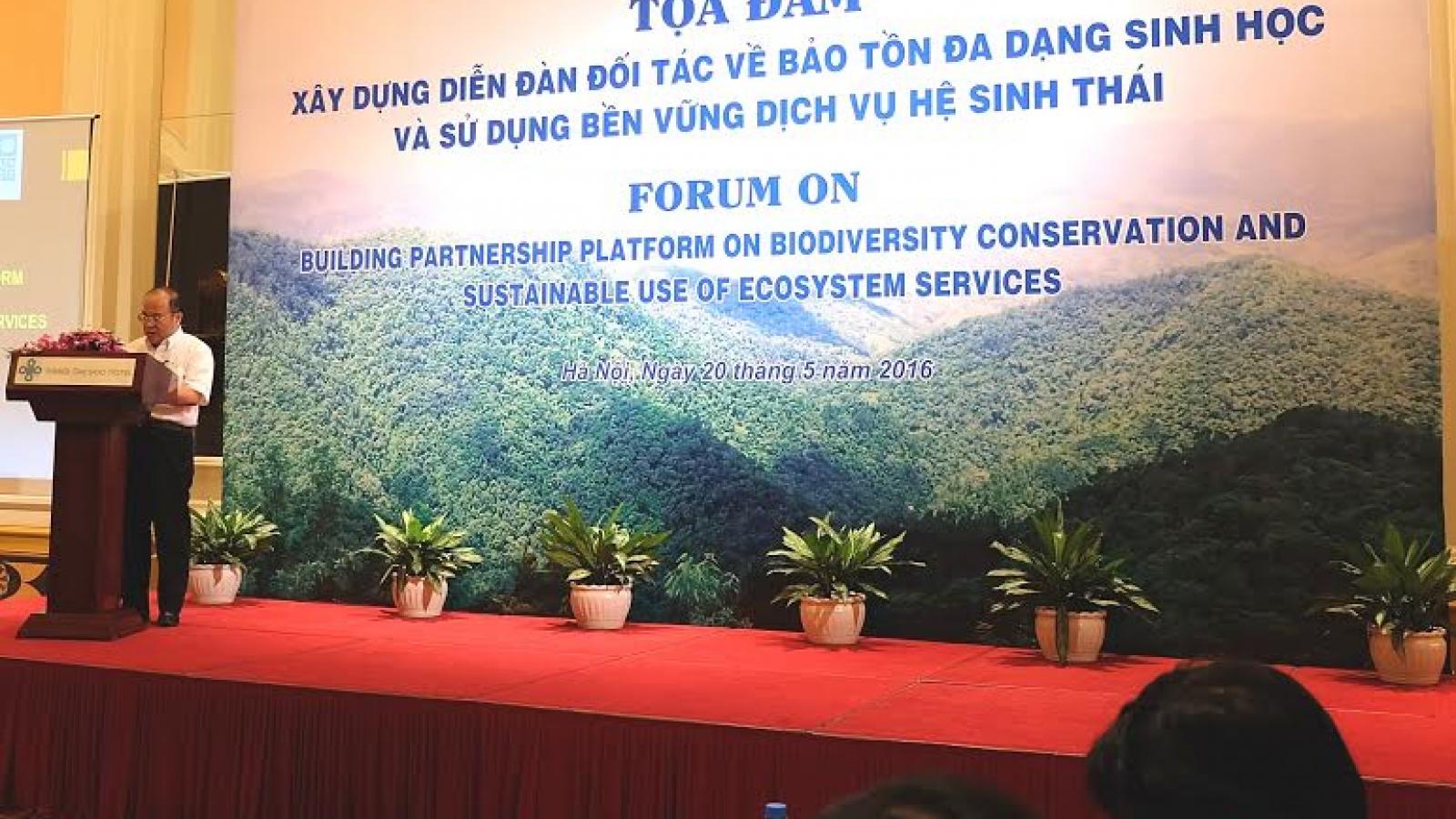 Forum on building platform for biodiversity conservation