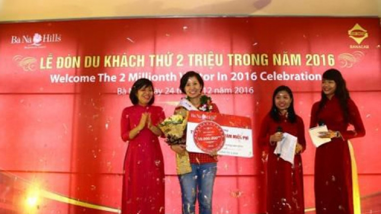 Danang: Ba Na Hills welcomes two-millionth tourist in 2016
