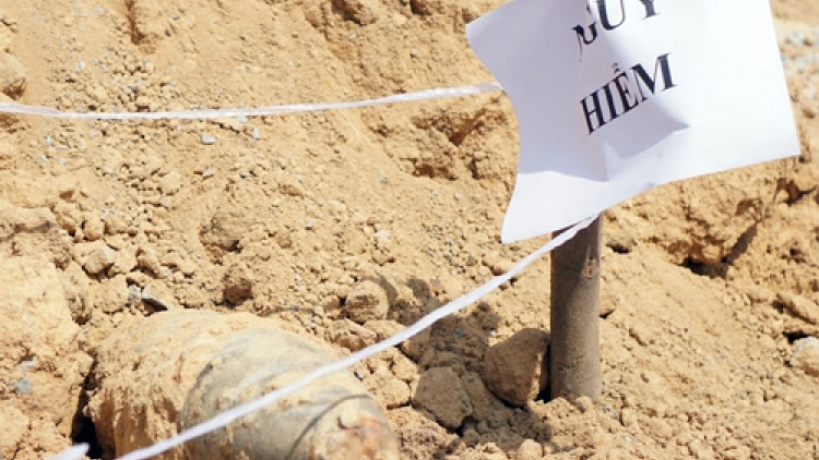 100-kilo Vietnam War bomb unearthed in southern province